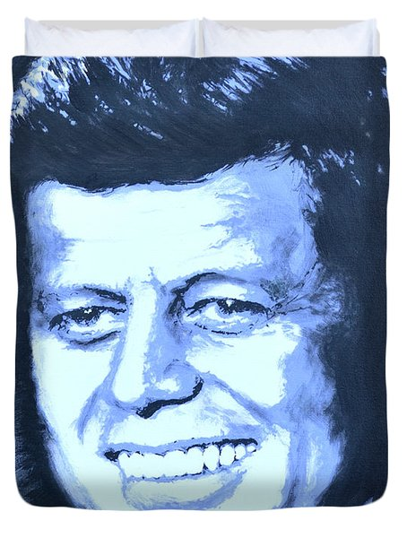 John F. Kennedy Duvet Cover by Victor Minca