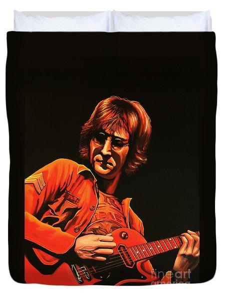 John Lennon Painting Duvet Cover