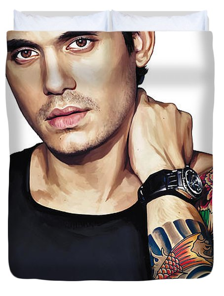 John Mayer Artwork  Duvet Cover by Sheraz A
