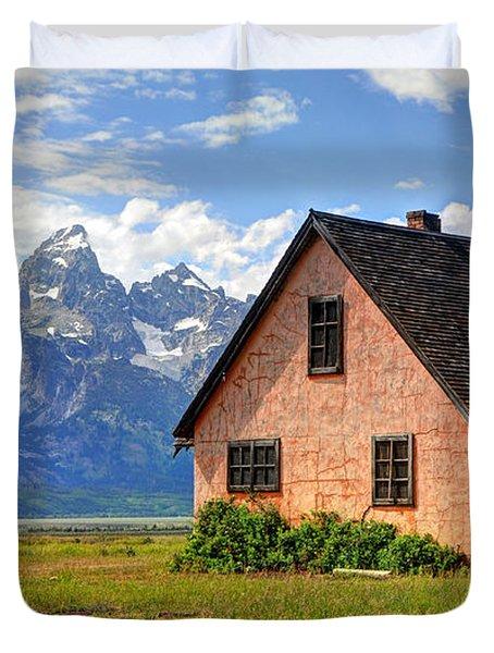 John Moulton Home Grand Teton National Park Duvet Cover