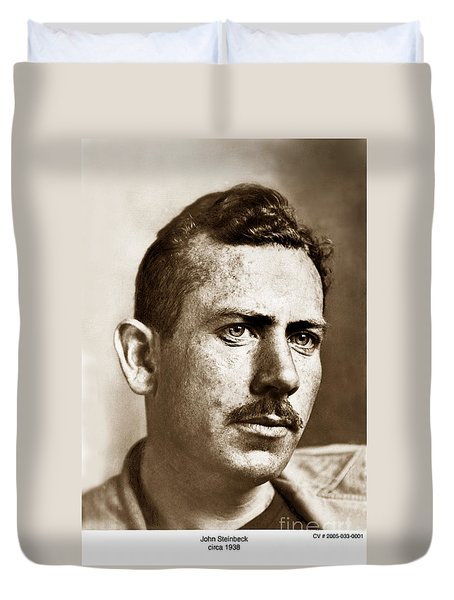 John Steinbeck American Author Circa 1938 Duvet Cover by California Views Mr Pat Hathaway Archives