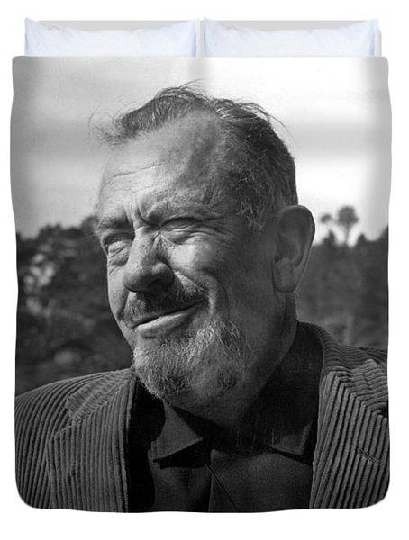 John Steinbeck Pebble Beach, Monterey, California 1960 Duvet Cover