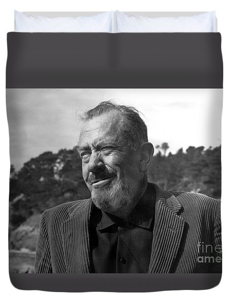 John Steinbeck Pebble Beach, Monterey, California 1960 Duvet Cover