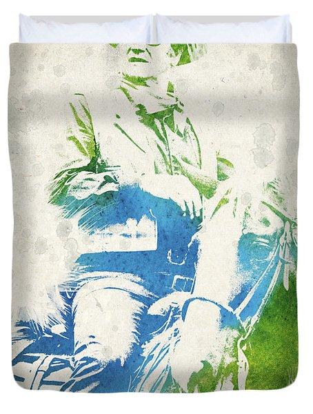 John Wayne  Duvet Cover by Aged Pixel