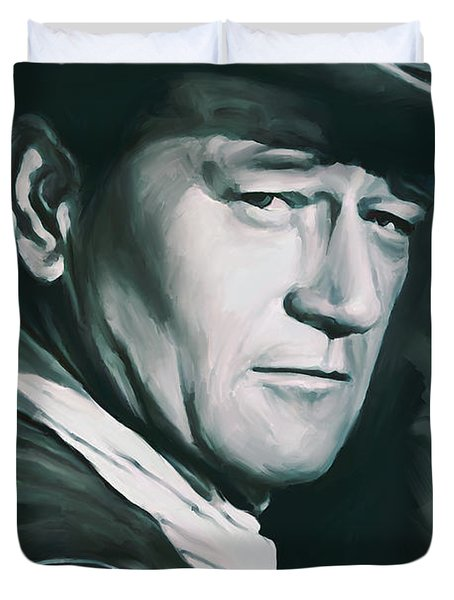 John Wayne Artwork Duvet Cover by Sheraz A