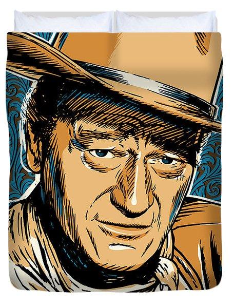 John Wayne Pop Art Duvet Cover