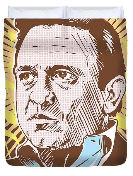 Johnny Cash Pop Art Duvet Cover