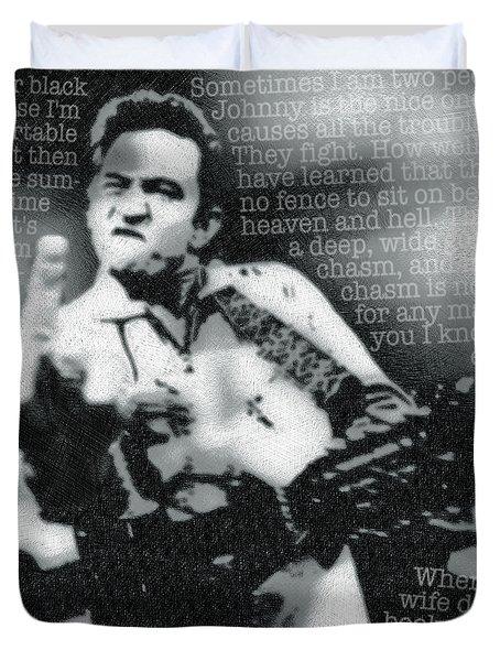 Johnny Cash Rebel Duvet Cover