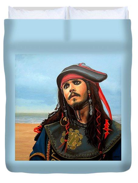 Johnny Depp As Jack Sparrow Duvet Cover