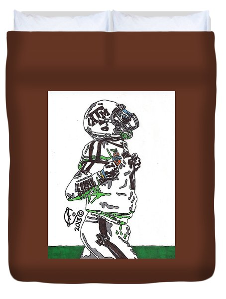 Johnny Manziel 4 Duvet Cover by Jeremiah Colley