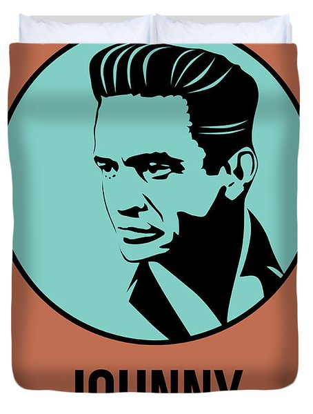 Johnny Poster 1 Duvet Cover by Naxart Studio