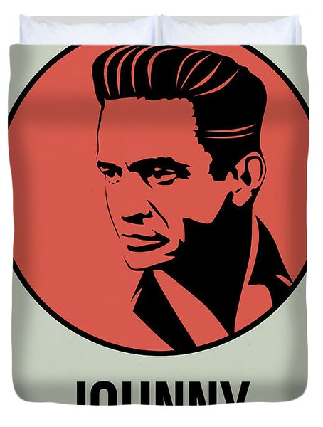 Johnny Poster 2 Duvet Cover by Naxart Studio