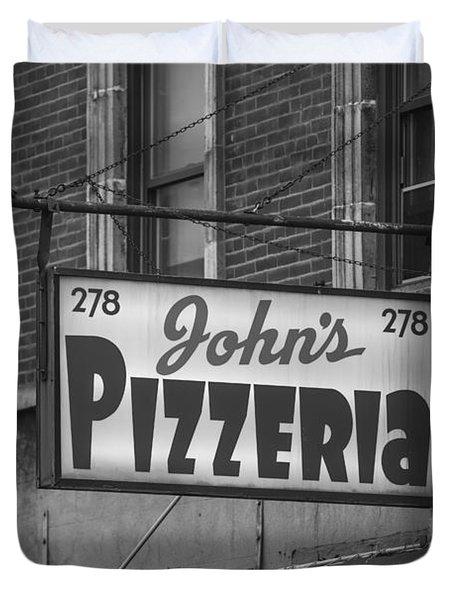 John's Pizzeria In Nyc Duvet Cover