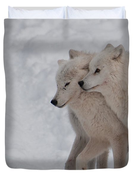 Duvet Cover featuring the photograph Joined At The Hip by Bianca Nadeau