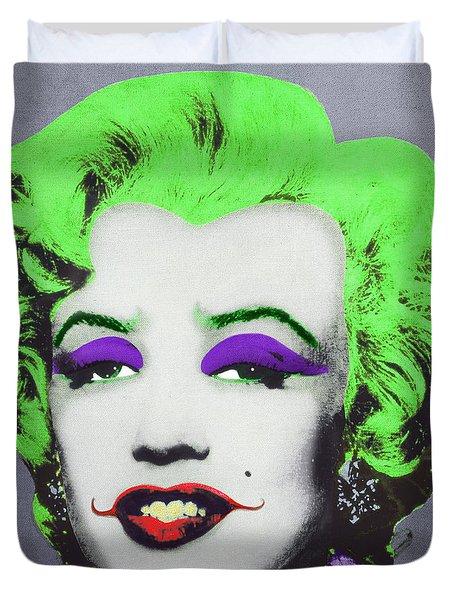 Joker Marilyn Duvet Cover by Filippo B