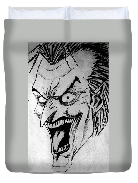 Duvet Cover featuring the painting Joker by Salman Ravish