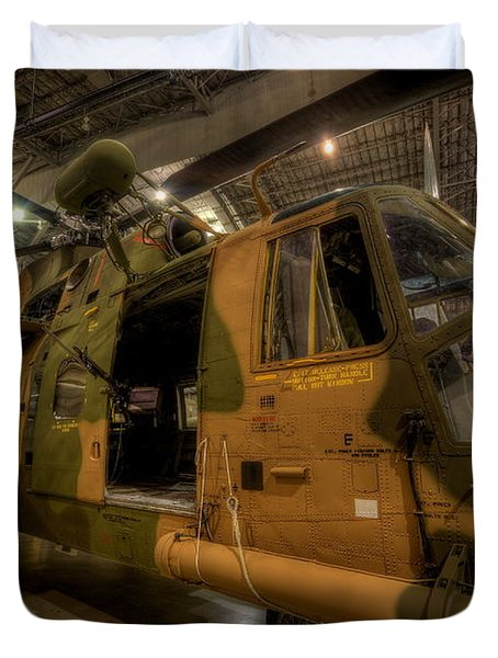 Jolly Green Hh-3e Rescue Duvet Cover