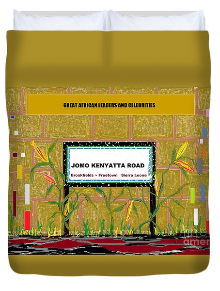 Duvet Cover featuring the digital art Jomo Kenyatta Road - Sierra Leone by Mudiama Kammoh