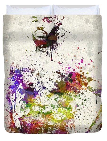 Jon Jones Duvet Cover by Aged Pixel