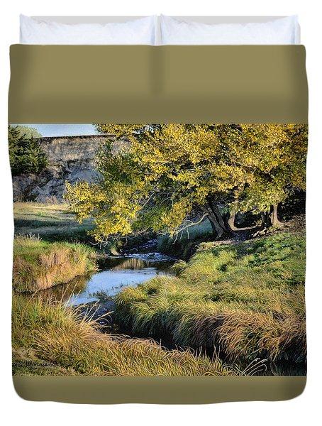 Jordan Creek Autumn Duvet Cover by Bruce Morrison