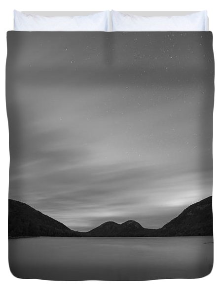 Jordan Pond Blue Hour Bw Duvet Cover