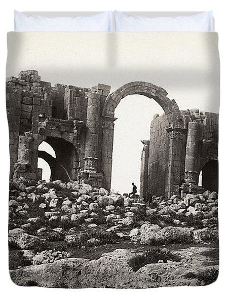 Jordan Triumphal Arch Duvet Cover