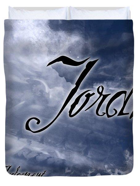 Jordan - Wise In Judgement Duvet Cover by Christopher Gaston