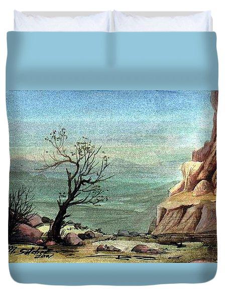 Jordanian Valley Duvet Cover by Mikhail Savchenko