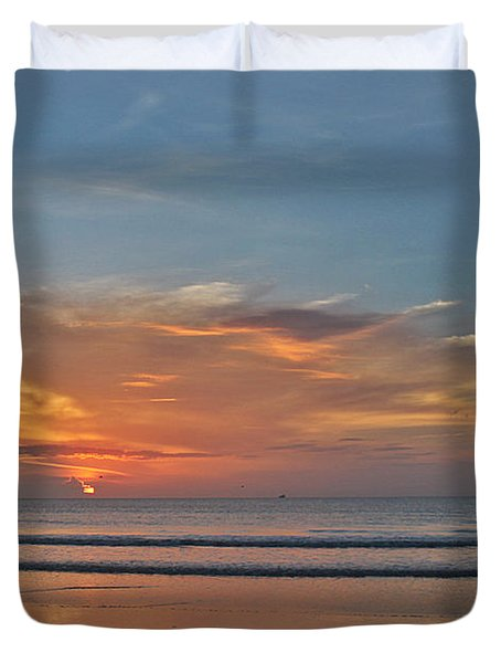 Jordan's First Sunrise Duvet Cover