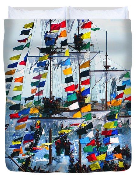 Jose Gasparilla Ship Work B Duvet Cover