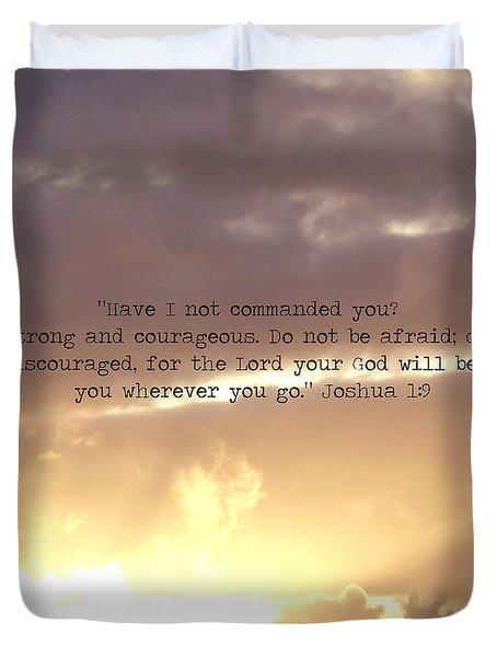 Joshua 1 Duvet Cover