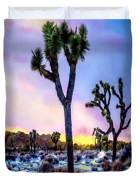 Joshua Tree National Park Twilight Duvet Cover