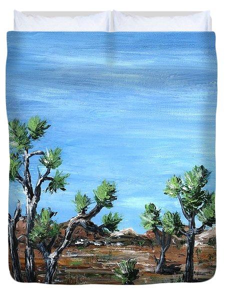 Joshua Trees Duvet Cover by Anastasiya Malakhova