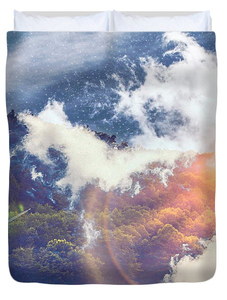 Journey To Another Dimension Duvet Cover