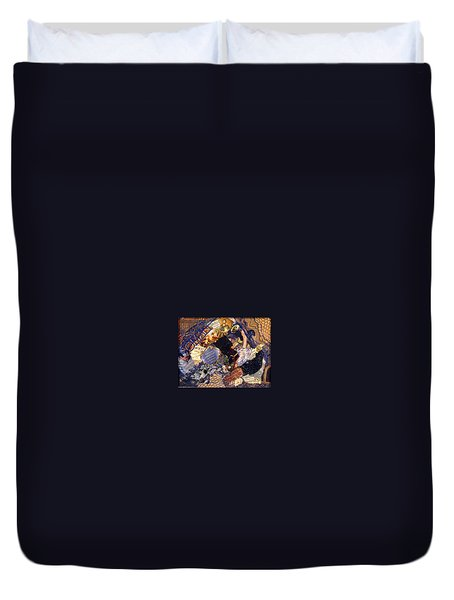 Duvet Cover featuring the mixed media Joy In The Morning by Gail Kirtz
