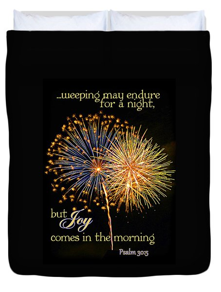 Joy In The Morning Duvet Cover by Larry Bishop