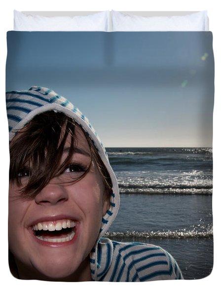 Joy Duvet Cover by Lisa Knechtel