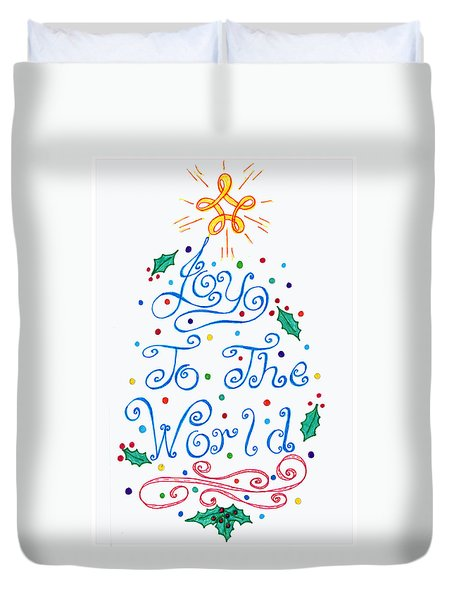 Joy To The World Duvet Cover