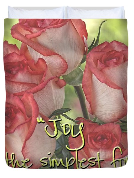 Joyful Gratitude Duvet Cover by Peggy Hughes