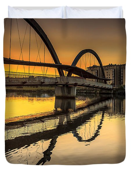 Jubia Bridge Naron Galicia Spain Duvet Cover by Pablo Avanzini