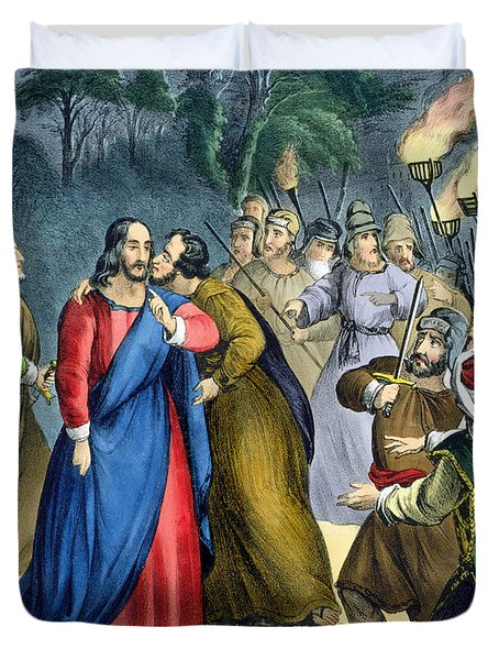 Judas Betrays His Master, From A Bible Duvet Cover