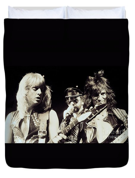 Judas Priest At The Warfield Theater During British Steel Tour - Unreleased And Never Seen  Duvet Cover
