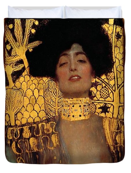 Judith And The Head Of Holofernes Duvet Cover by Gustav Klimt