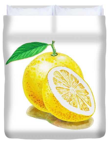 Juicy Grapefruit Duvet Cover
