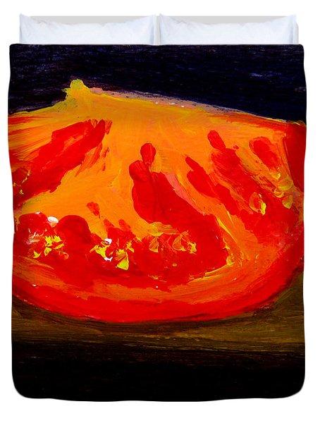Juicy Tomato Modern Art Duvet Cover