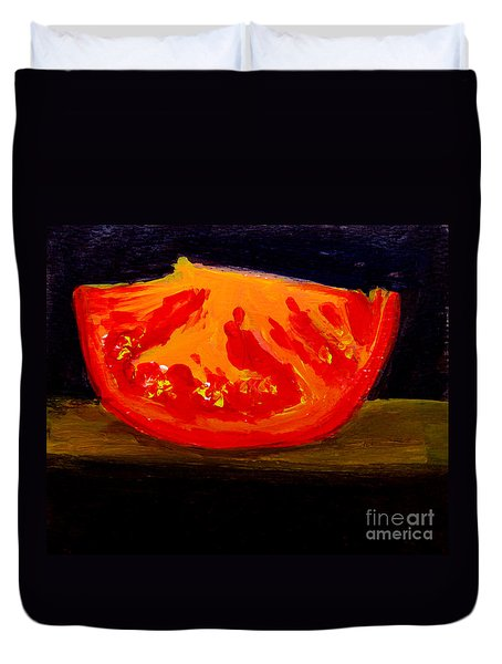 Juicy Tomato Modern Art Duvet Cover