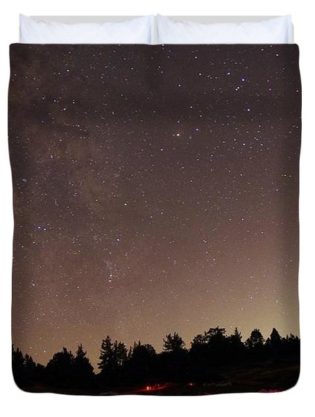 Julian Night Sky Milky Way Duvet Cover