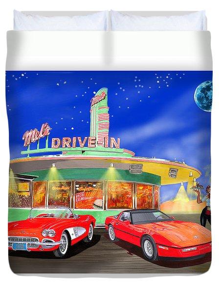 Julies Corvettes Duvet Cover