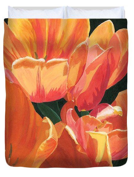 Julie's Tulips Duvet Cover