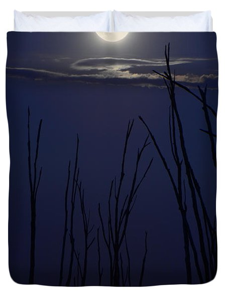 July 2014 Super Moon Duvet Cover